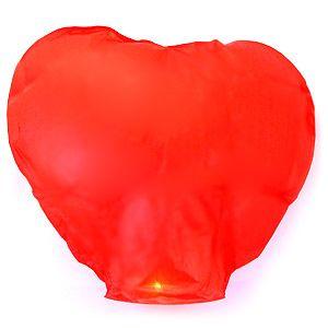 """Небесный фонарик """"Сердце"""" красный"""