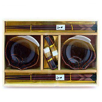 Набор для суши на 2 персоны шоколадного цвета