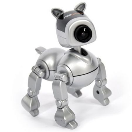 Web-камера игрушка Doggy-робот серебристая с микрофоном