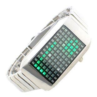 LED watch - Часы браслет Intercrew 72 зеленых светодиода