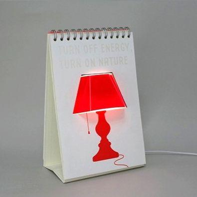 """Светильник дизайнерский """"Лампа в блокноте"""" USB"""