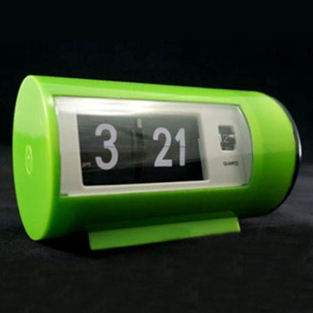 """Часы """"Перекидные"""" с будильником зеленые"""