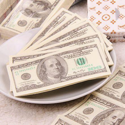 Салфетки 100$