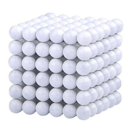Головоломка Нео куб 5мм 216 сфер белый