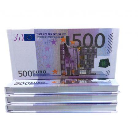 Отрывной блокнот  500€ в жесткой обложке