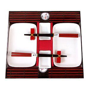 Набор для суши на 2 персоны красно-белый