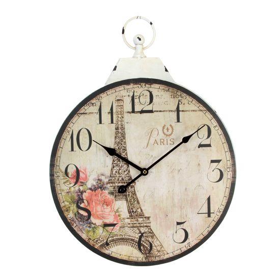 Настенные часы Эйфелева башня дизанерские круглые