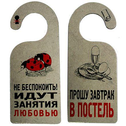 Табличка дверная Идут занятия любовью 18+