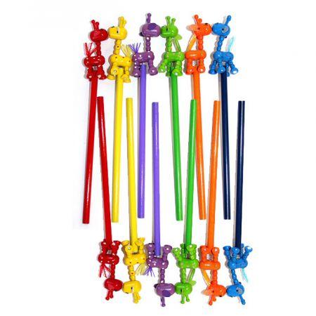 Набор карандашей на пружинке Жирафы 12 шт в пакете