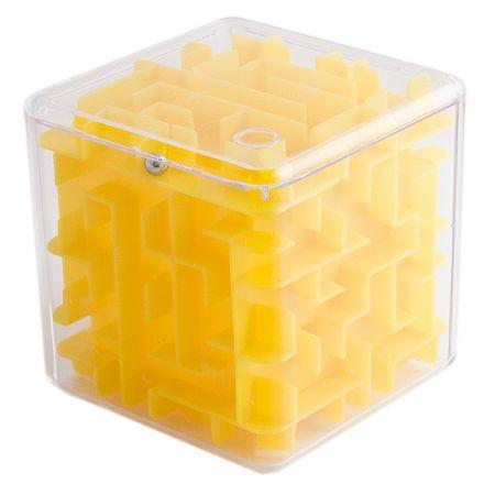 Головоломка лабиринт Куб желтая